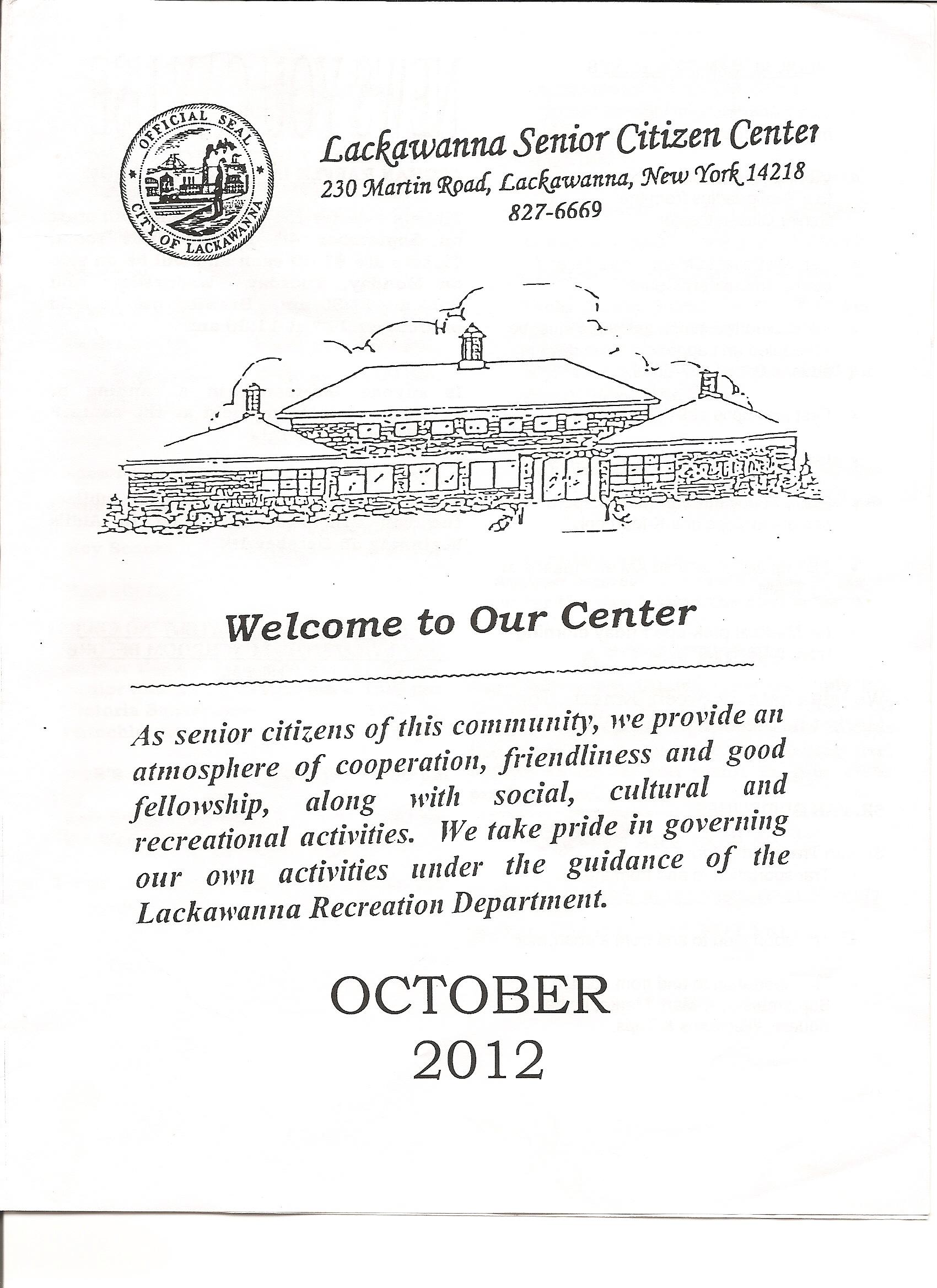 Oct 2012 Newsletter -- pg. 1